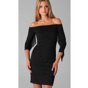 thayer sizzle off the shoulder black dress size S